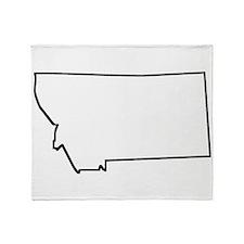 Montana Outline Throw Blanket