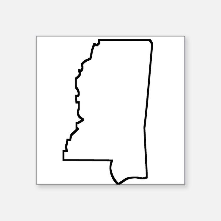 Mississippi Outline Sticker