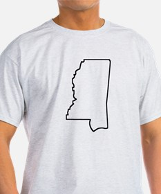 Mississippi Outline T-Shirt