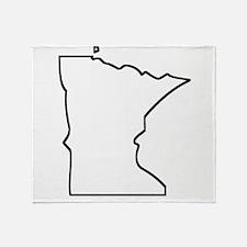 Minnesota Outline Throw Blanket