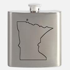 Minnesota Outline Flask