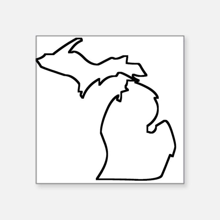 Michigan Outline Sticker