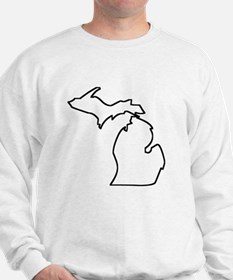 Michigan Outline Sweatshirt