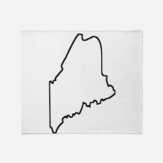Maine Outline Throw Blanket
