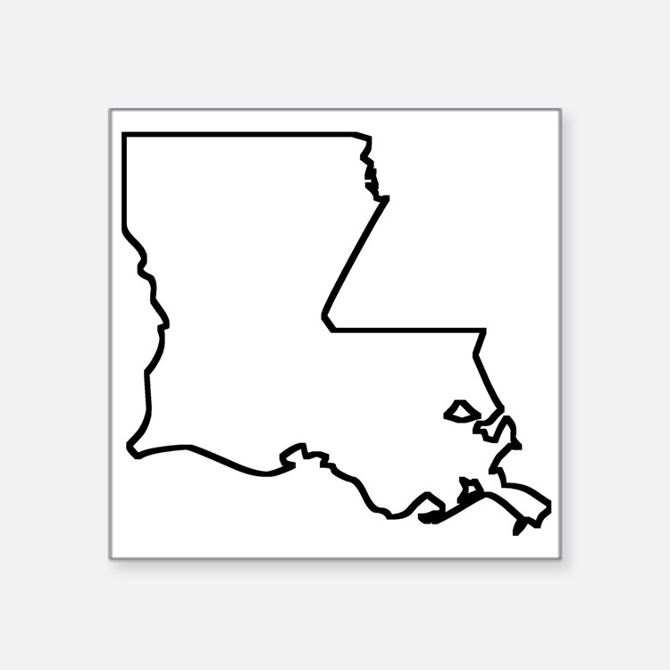 Louisiana Outline Sticker