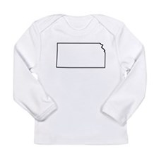 Kansas Outline Long Sleeve T-Shirt