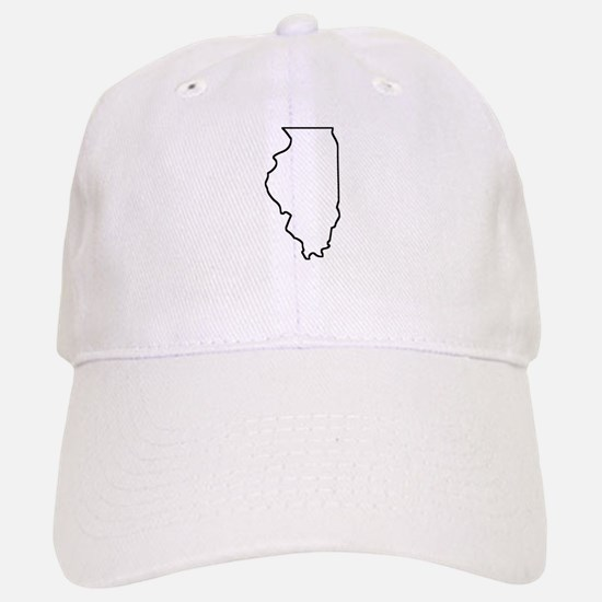 Illinois Outline Baseball Baseball Baseball Cap