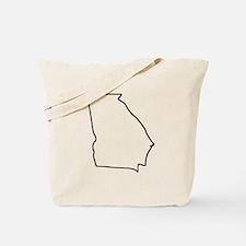 Georgia Outline Tote Bag