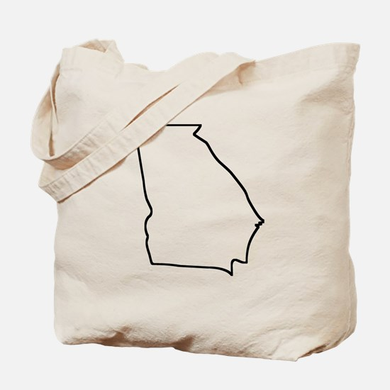 Georgia Outline Tote Bag
