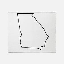 Georgia Outline Throw Blanket