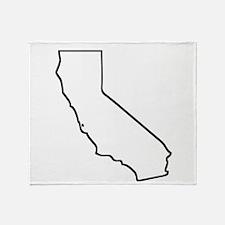 California Outline Throw Blanket