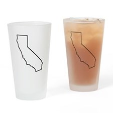 California Outline Drinking Glass