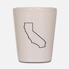 California Outline Shot Glass