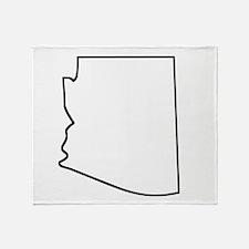 Arizona Outline Throw Blanket