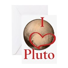 I Heart Pluto bright red Greeting Card