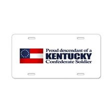 Kentucky Proud Descendant Aluminum License Plate
