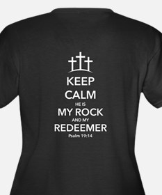 My Redeemer Women's Plus Size V-Neck Dark T-Shirt