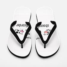 Obsessive Cow Disorder Flip Flops