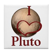 I heart Pluto Tile Coaster