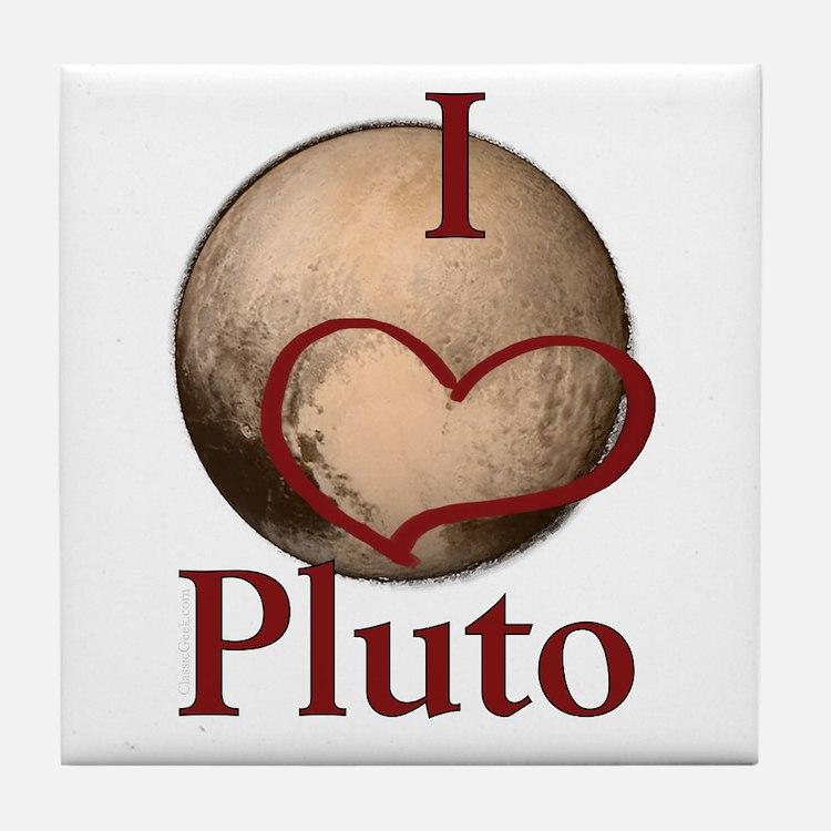 I heart Pluto Tile Coaster