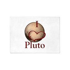 I heart Pluto 5'x7'Area Rug