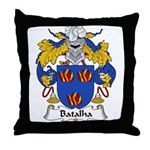 Batalha Family Crest Throw Pillow