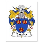 Batalha Family Crest Small Poster