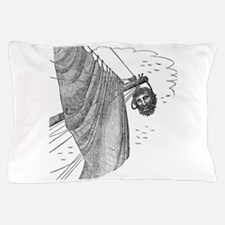 Blackbeard's Head Being hung from the Pillow Case