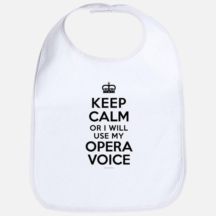 Keep Calm Opera Voice Bib