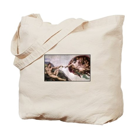Michelangelo - God creates Da Tote Bag
