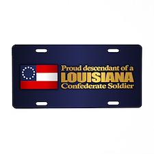 Louisiana Proud Descendant Aluminum License Plate