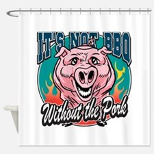 BBQ Pork Shower Curtain