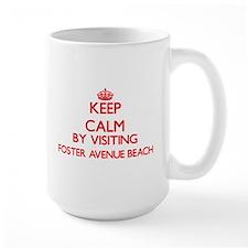Keep calm by visiting Foster Avenue Beach Ill Mugs
