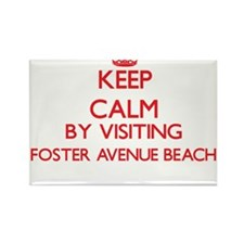 Keep calm by visiting Foster Avenue Beach Magnets
