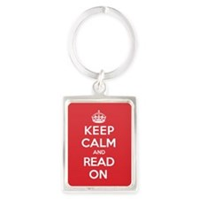 Cute Keep calm and carry on parody Portrait Keychain