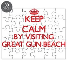Keep calm by visiting Great Gun Beach New Y Puzzle
