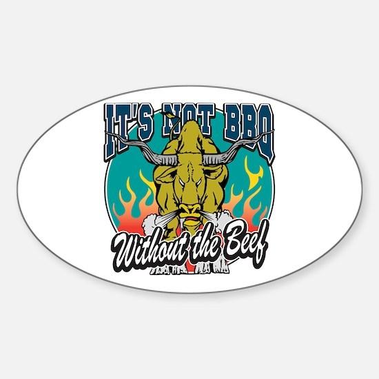 BBQ Beef Sticker (Oval)