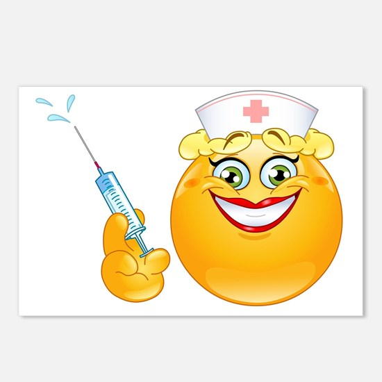 nurse emoji Postcards (Package of 8)