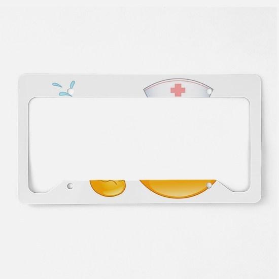 nurse emoji License Plate Holder