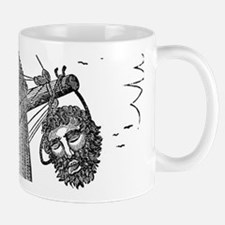 Blackbeard's Head Being hung from the Bow Mugs