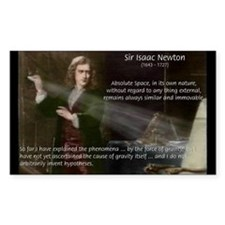 Newton's Absolute Space: Rectangle Decal