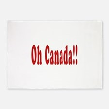 Oh Canada!! 5'x7'Area Rug