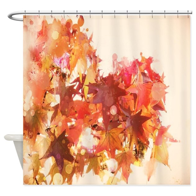 Elegant Autumn Fall Leaves Shower Curtain By Listing Store