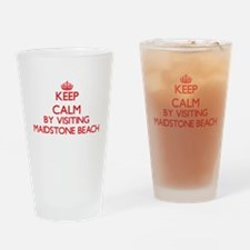 Keep calm by visiting Maidstone Bea Drinking Glass