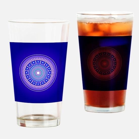 Blue Moon Mandala Drinking Glass