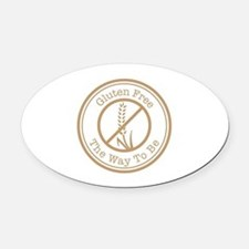 Gluten Free The Way To Be Oval Car Magnet