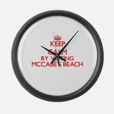 Keep calm by visiting Mccabe'S Be Large Wall Clock