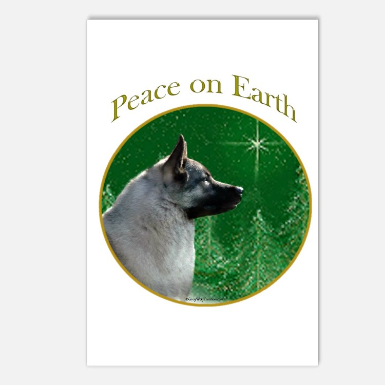 Elkhound Peace Postcards (Package of 8)