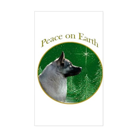 Elkhound Peace Rectangle Sticker