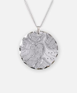 Vintage Map of Boston (1878) Necklace